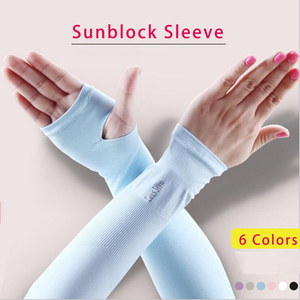 6 colors optional Unisex Sunblock Oversleeve for Protecting Arm Outdoor Sports Essentials Household Women Sunscreen Long sleeve