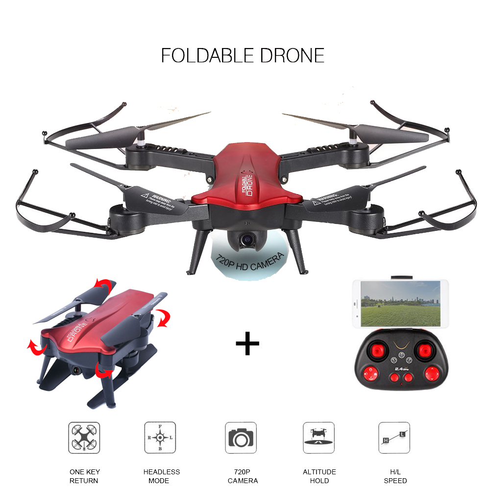 EBOYU(TM) L6060 L6060W 2.4G Foldable Selfie Drone w/ WiFi 720P 110 Degree FOV Wide Angle HD Camera Height Hold RC Quadcopter RTF yagnob hd 110
