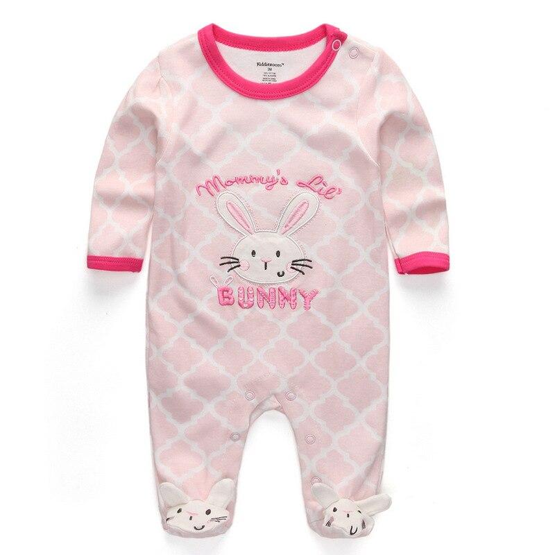 Для маленьких девочек сна; одежда для сна с мультяшным рисунком для малышей Детские пижамы хлопок Длинные рукава Детские пижамы с надписью «i love daddy» детские комбинезоны с рисунками - Цвет: baby girl