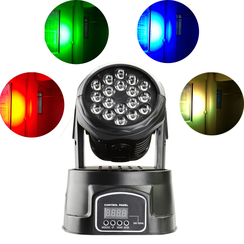 Professional Stage Lighting Led Moving Head 18x3w Wash Moving Head LED RGB Colors Mixing Effects Dmx 14channels Stage Lights