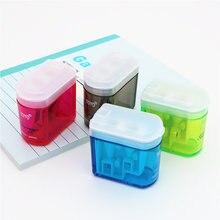 Doces cores de alta qualidade apontador de lápis escritório ou papelaria escolar adequado para lápis de madeira e papel