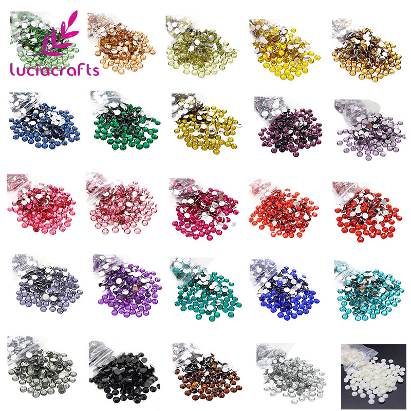 4a2a91cc8b Lucia Crafts 18 Colors for slection 6mm SS30 288pcs/lot Flatback  Rhinestones DIY Stones Decoration Accessories 12050601(288)