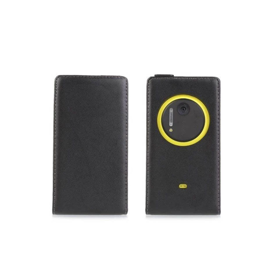 Ultrathin Genuine Leather Mobile Phone Case For Nokia Lumia 1020 Magnetic Buckle Vertical Phone Back Cover Cellphone Accessories