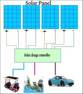 Image 3 - MPPT Solar Panel cells Charger Controller booster Adjustable 24V 36V 48V 60V 72V Battery charging voltage Regulator