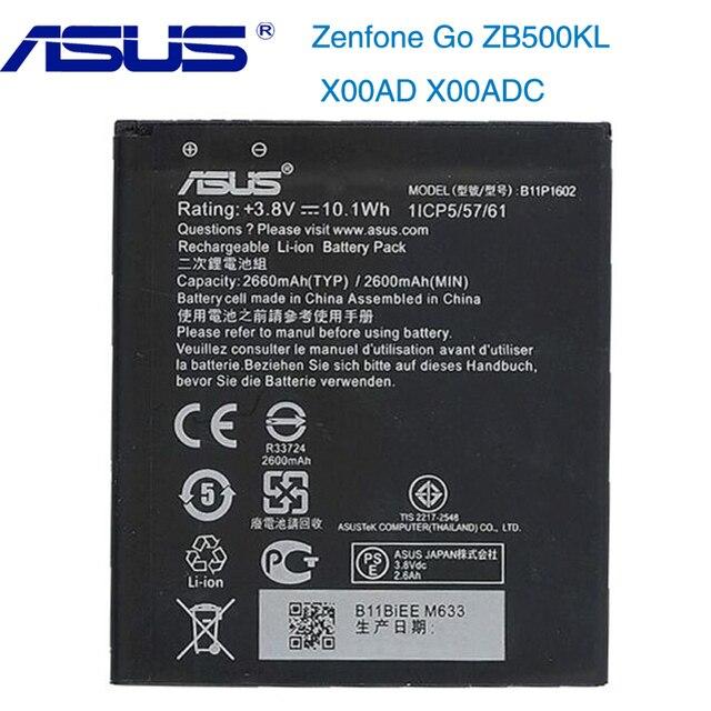 מקורי ASUS B11P1602 טלפון סוללה עבור ASUS Zenfone ללכת ZB500KL X00AD X00ADC 2600mAh