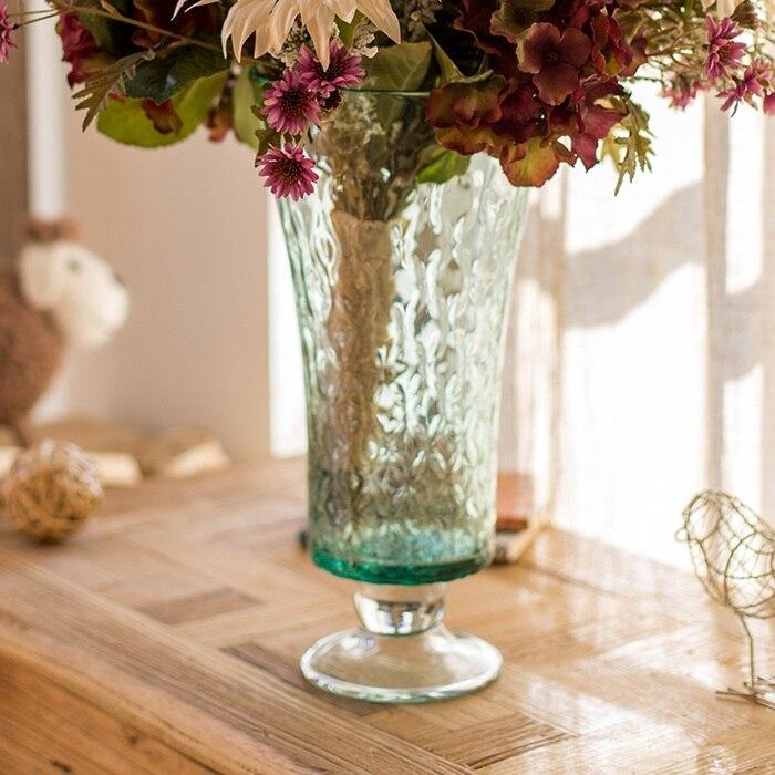 Hand Blown Glass Vase40cm Tall Flower Vase Container Bottle Flower