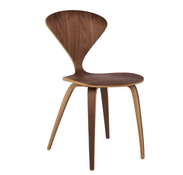 free shipping cherner style plywood side chair ch177 natural side chair walnut ash