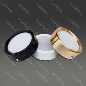 Image 1 - משטח רכוב 12W LED downlight 7W 10w תקרת מנורות Ultra דק ללא נהג cob led ספוט אורות 220V תקרת גופי תאורה