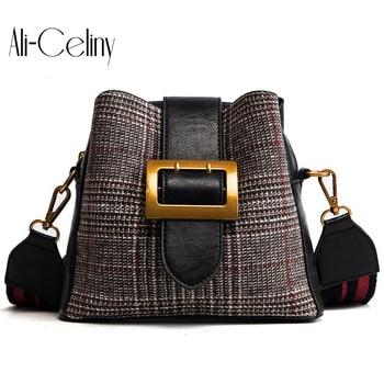 Brand original design Bucket Bags Women Handbags High Quality Designer 2019 Fashion Style Panelled Strap Crossbody Bag Bolsos