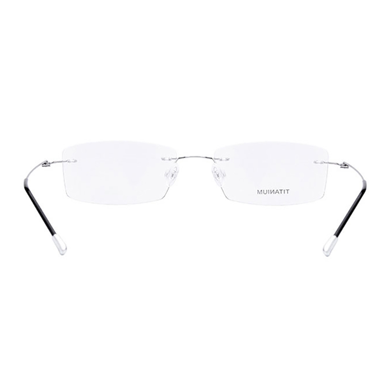 Image 3 - Titanium Rimless Rectangular Shape Eyeglasses Optical Frame for Men and Women Eyewear-in Men's Eyewear Frames from Apparel Accessories