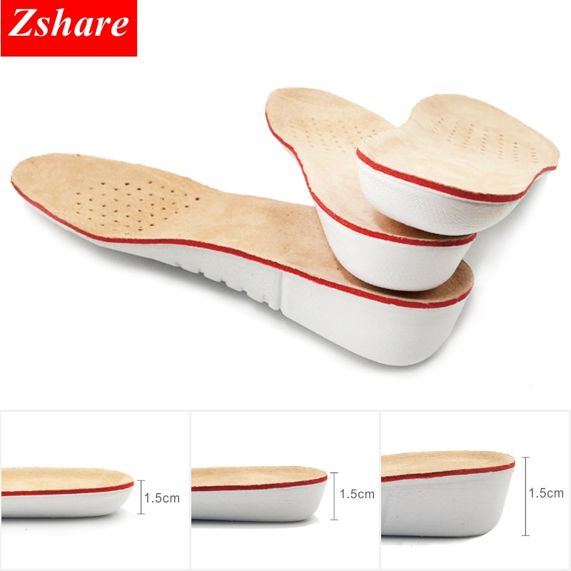 1 Pair Height Increase Insoles Soy Fiber Sweat-absorbent Deodorant Breathable Shoe Pad Inserts Foot Care Pad for Men Women PD-2