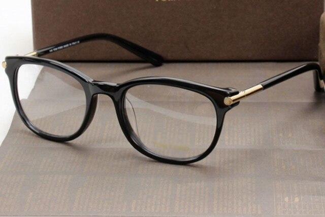 colección completa fábrica auténtica cómo hacer pedidos € 31.54 |Tom para el tamaño 50 20 140mm montura de gafas para hombre  ópticos gafas de diseño vidrios negros mujeres del marco con el caso en De  los ...