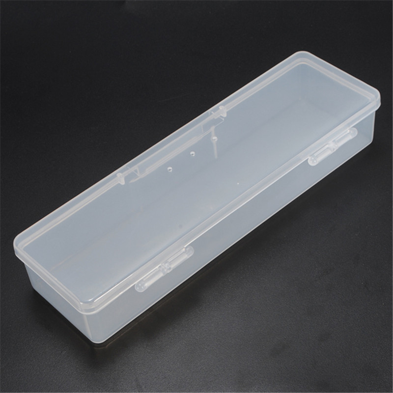 PP Transparent Plastic Box Storage Box Rectangular Tool Plastic Collecting Transparent Nail Tips Case Jewelry Watch Boxes