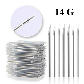 Wholesale 100PCS 14G Piercing Needles Sterile Body Piercing Needles Assorted Sizes Sterile Tattoo Needles Supply Free Shipping фото