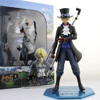 EMS Shipping 6pcs 10 One Piece Sabo Chief of Staff of the Revolutionary Army Boxed 25cm PVC Action Figure Collection Model