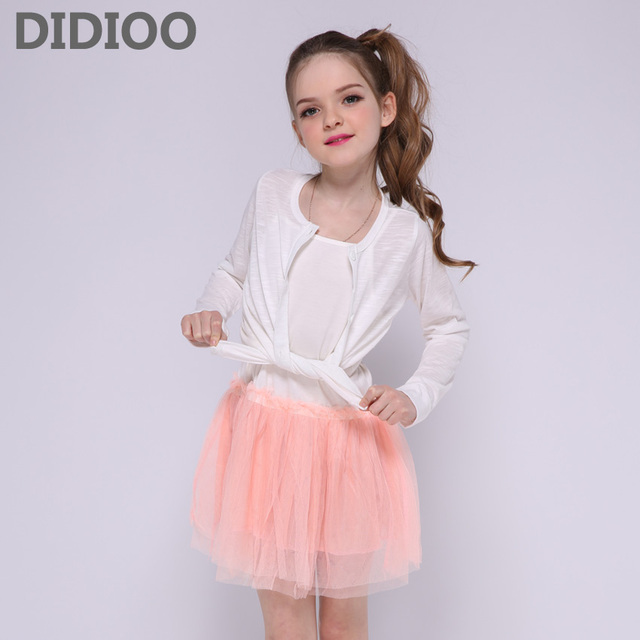 Kids Clothes Sets for Girls Tops & Dress Suits Children Summer Outfits Teenage Girls Sunscreen Clothings Sundress Sets 8 14 Year