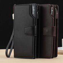 Long Large Capacity Organizer Leather Men Wallets Wristlets Clutch Bag Zipper Pocket Card Holder Coin Purse Man Money Bag Wallet the first layer of crazy horse leather money man card wallet zipper coin large loading capacity 1007
