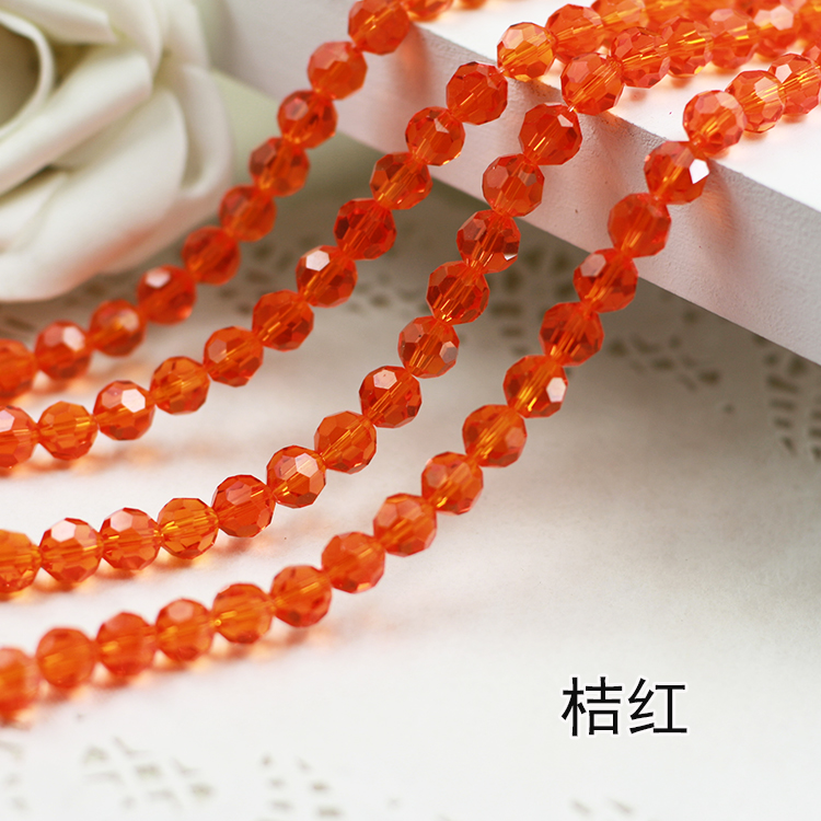 Wholesale~ Orange Color 5000# Crystal Glass Beads Loose Round Stones Spacer for Jewelry Garment.4mm 6mm 8mm 10mm wholesale light siam color 5000 crystal glass beads loose round stones spacer for jewelry garment 4mm 6mm 8mm 10mm