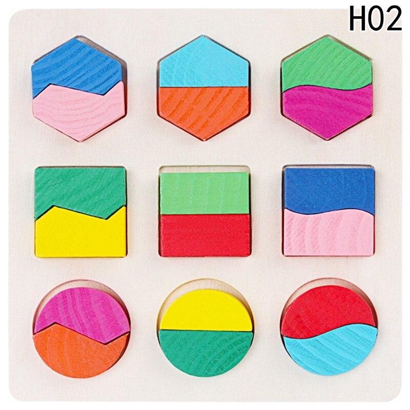 Многофункциональный Детские раннего обучения деревянная игрушка деревянная Форма головоломки Форма детей