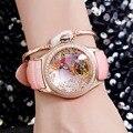 2020 Reef Tiger/RT женские роскошные модные часы с бриллиантами, автоматические часы с турбийоном, кожаный ремешок, Часы Relogio Feminino RGA7105