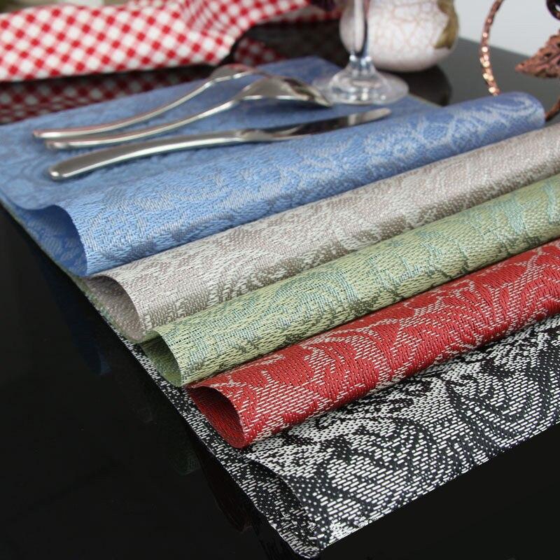 20 pièces Napperon pour Table À Manger EN PVC Rose Fleur Motif Antidérapant Support De Tasse Boisson coaster table Individuelle tapis
