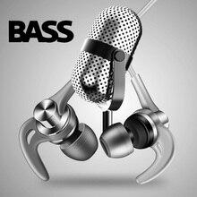 DUSZAKE DQ1 Stereo bas kulaklık telefon için spor kulak kablolu kulaklık Metal HiFi kulaklık Samsung için mikrofon ile xiaomi