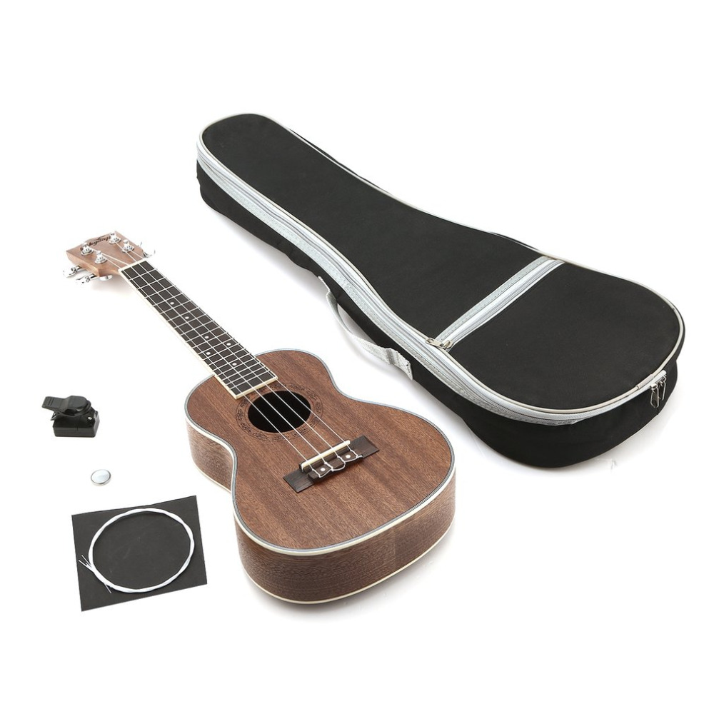 2018 21 Inch MUH07 Ukulele Set 4 String Acoustic Guitar Musical Instruments Set with Tuner Concert Ukelele Kit for Solo Playing classification of pakistani musical instruments using soft set