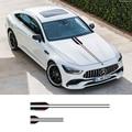 1 stück Vinyl Auto Styling Kopf Aufkleber Hood Decals Streifen Für Mercedes Benz AMG EINE C E G Klasse Konzept coupe CLS E53 Immobilien-in Autoaufkleber aus Kraftfahrzeuge und Motorräder bei