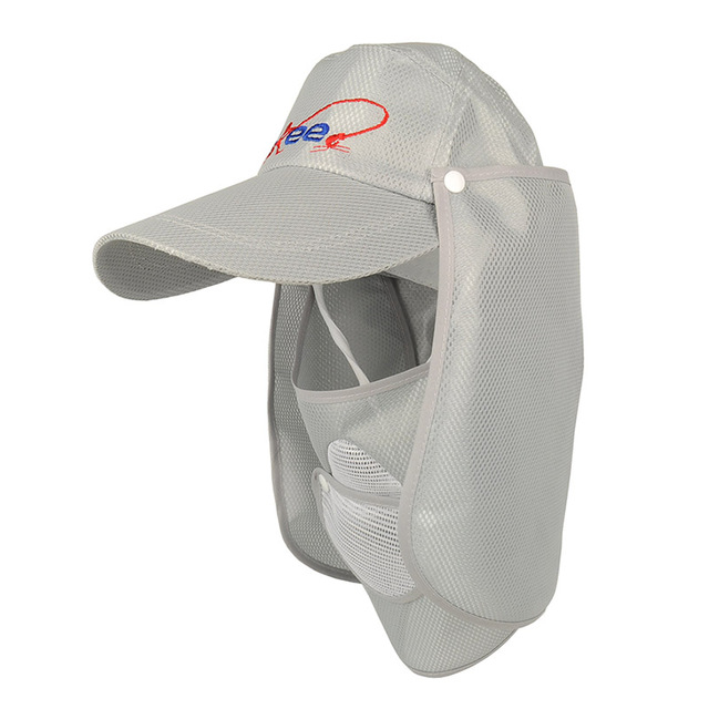 5e3dd0f6275fd 2pcs Lot UV protection Unisex Outdoor Hollow Fishing Cap w  Removable Neck  Cape Breathable