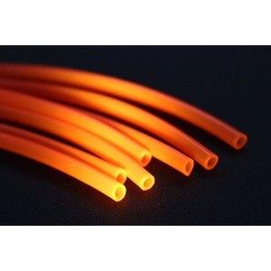 Tigofly 12 sztuk UV pomarańczowy twardy plastikowa rurka 2.5mm X rury 4mm 17cm odpowiednio zaplanować podróż rury wiązanie muchowe rury materiałów Fly Fishing