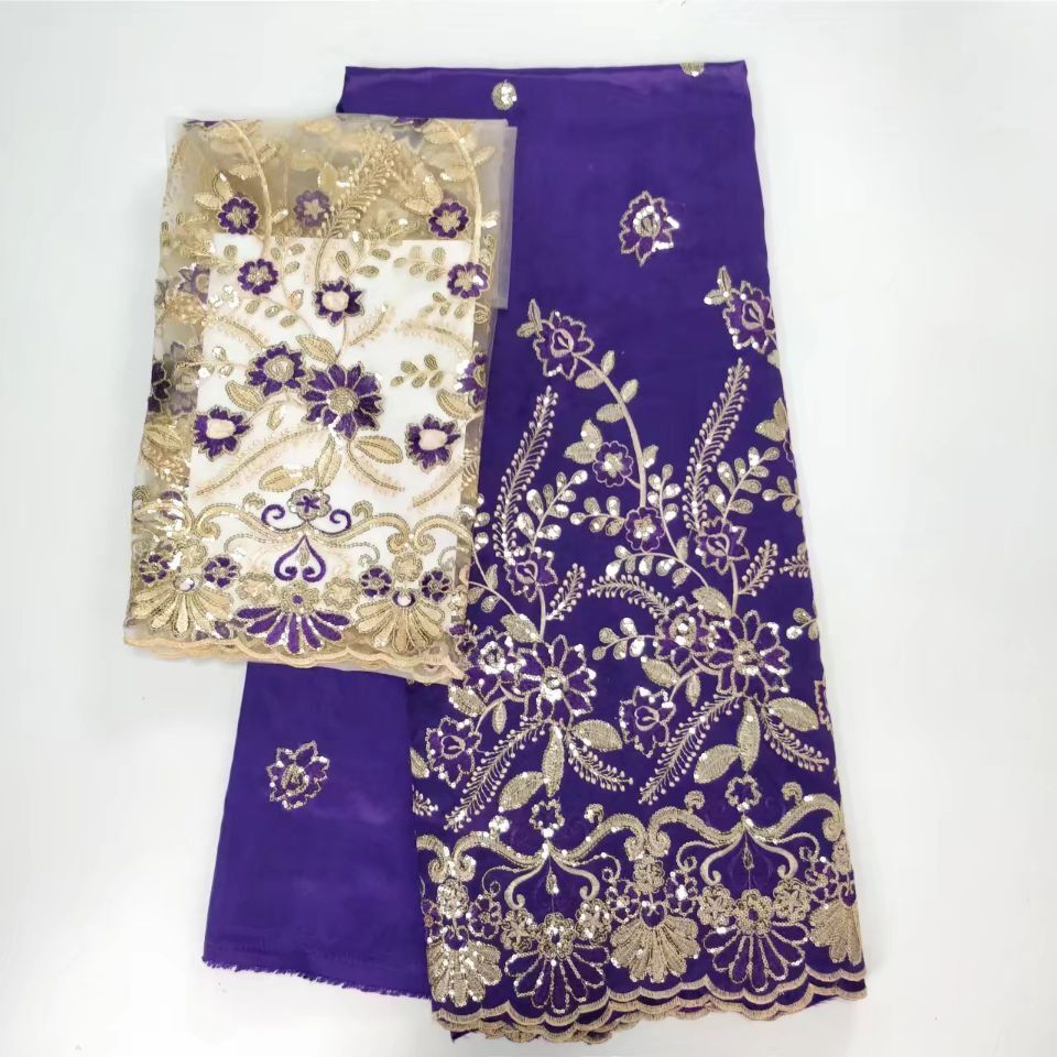 Nigeria Wedding Fabrics Yellow White Green Purple 3d Nigerian Sequins Tulle Lace Pink African Lace For Bridal Dresses