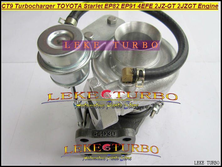 Wholesale NEW CT9 Turbo Turbine Turbocharger For TOYOTA STARLET EP82 EP91 4EFE With 2JZ-GT 2JZGT 2JZ GTE Engine Water Cooled epman intercooler for toyota starlet ep82 91 ic 600 263 70mm od 63mm ep int0015
