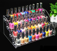 4 Tiers Clear Makeup Cosmetic Acrylic Organizer Lipstick Jewelry Display Stand Holder Nail Polish Rack 31