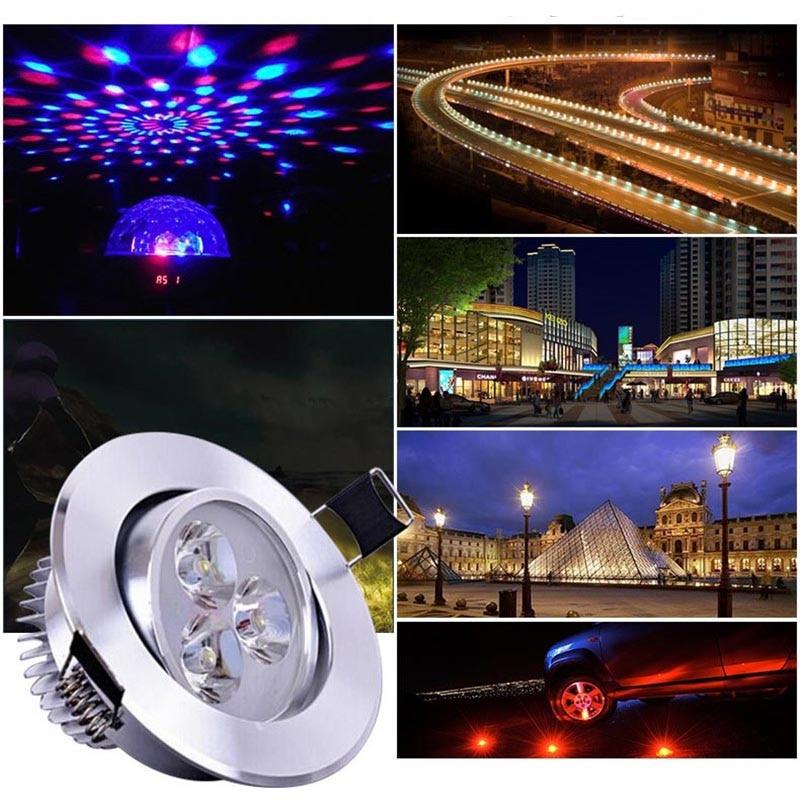 Купить с кэшбэком 10Pcs High Power LED Chip  1W Warm White Red Green Blue Yellow Full Spectrum For LED Spotlight 260-350mA Lamp Light Beads Diode