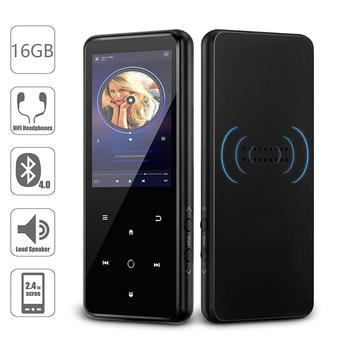 Reproductor MP4 Bluetooth 16GB altavoz incorporado tecla táctil con 2,4 pulgadas de gran pantalla HD Radio FM, grabadora Suppoers tarjeta SD de hasta 64GB