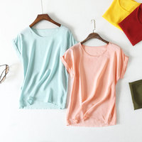 2017 Summer New Arrive High Quality Customed 100 Silk Office Lady Blouse Short Sleeved