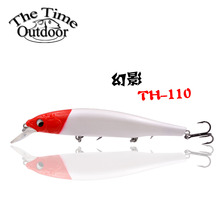 2017 Artificial bait TH110 minnow lure 110mm 17g jerkbait wobbler fishing lure with treble hooks for saltwater & freshwater