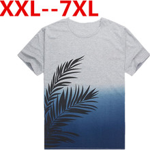 Plus size 9XL 8XL 6XL 5XL 7XL 2016 Herren t-shirt Sommer kurzarm O-ansatz Slim Fit Print Casual Grau Männer T-shirts Tops T freies