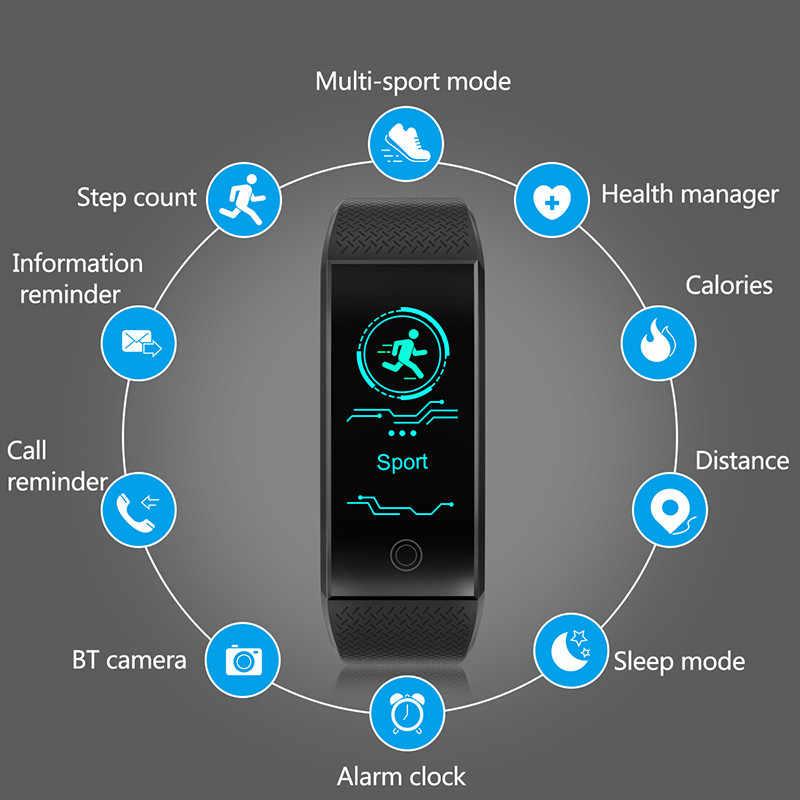 ييج 2019 جديد سوار ذكي للياقة القلب معدل ضغط الدم شاشة رصد أكسجين الدم الذكية معصمه ساعة ذكية لنظام تشغيل الأندرويد الروبوت