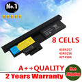 Wholesale NEW 8 CELLS LAPTOP BATTERY FOR IBM THINKPAD X200 Tablet Replace FRU 42T4658 ASM 42T4565 43R9257 43R9256  Free Shipping