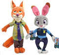 3 Sizes Zootopia Plush Toy Fox Nick Wilde Rabbit Judy Hopps Cartoon Movie Animal Dolls Toys XMAS Gift for Kid Children
