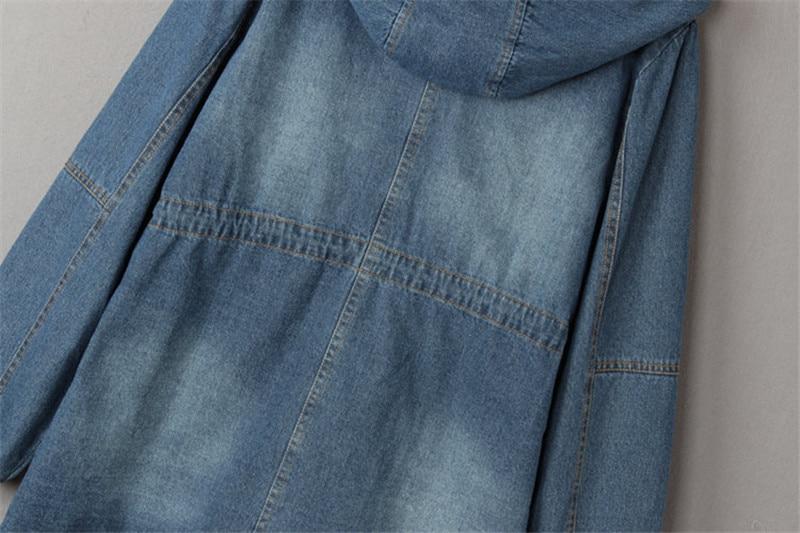 Denim Veste Cordon Épais Manteaux Capuchon Cowboy À Vestes Coton Femmes Le Feminina Picture Jaqueta Plus D'hiver Velours Color Parka Rembourré C3186 qrSprIx