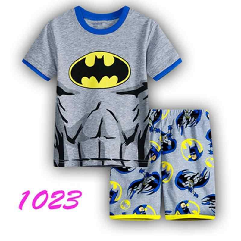 a02d4b0fb5085 Children's pajamas set summer short sleeved boy pyjamas girls cartoon home  clothes kids sleepwear clothes Nightwear homewear