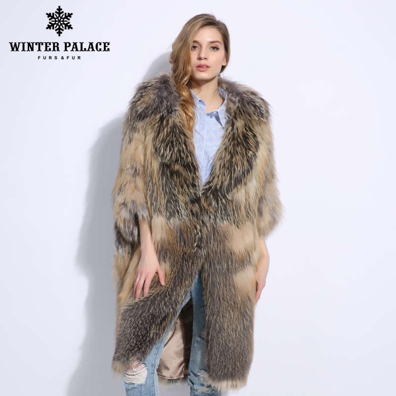 Fashion Luxurious Latest Color Women Natural Real Fox Fur Coat Comfortable Soft Fox Fur Knitted Real Fur Coat Warm Grace Jacket - 4