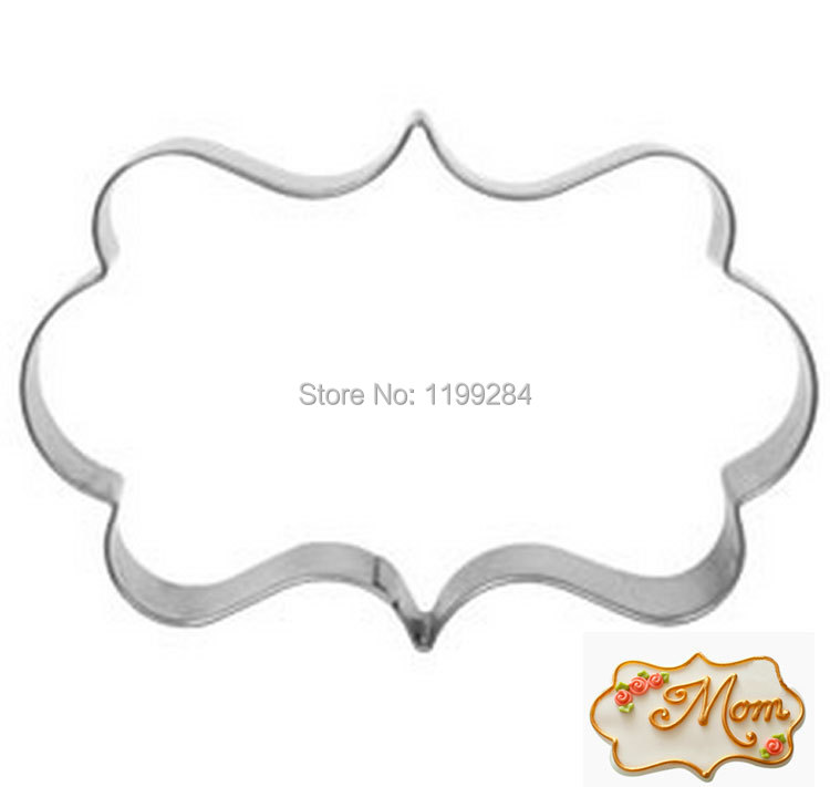 plaque frame stainless steel metal cookie cake biscuit pastry cutter baking mould tools diy m f57