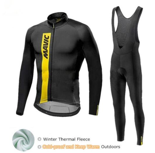 Mavic Winter Cycling Set Thermal Fleece Cycling Clothing Pro Team Bike Downhill Jersey Skinsuit MTB Clothes Roupas De CiclismoMavic Winter Cycling Set Thermal Fleece Cycling Clothing Pro Team Bike Downhill Jersey Skinsuit MTB Clothes Roupas De Ciclismo