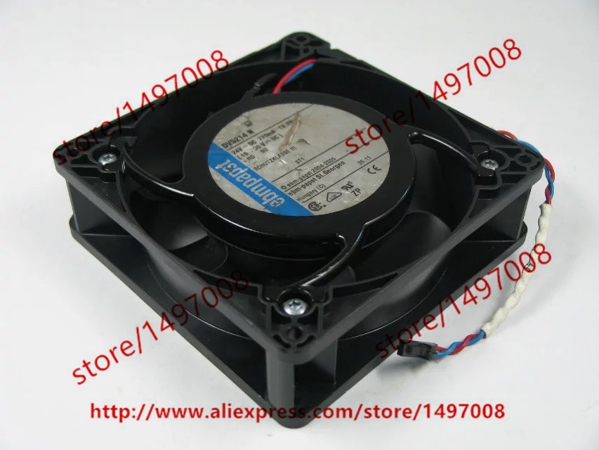 Free Shipping For ebmpapst DV5214N DV5214 N DC 24V 18.5W 2-wire 2-pin connector 110mm 127x127x38mm Server Square Cooling Fan bowen m way ahead 4 pupils book cd rom pack