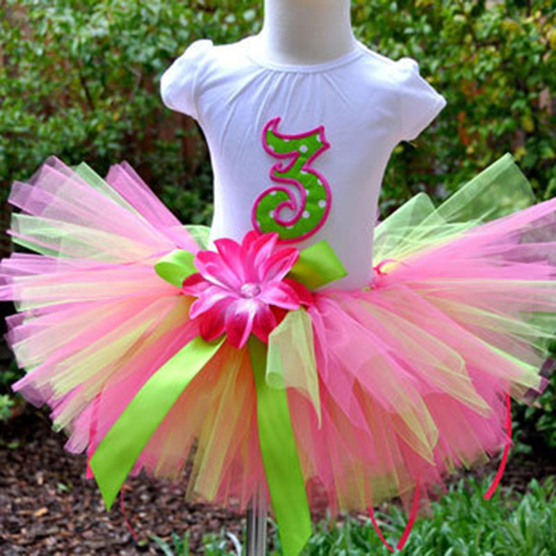 New Girls Flower Tutu Skirts Infant Baby 100 Handmade Fluffy Ballet Tutus Pettiskirts With Ribbon Bow And Headband Kids Clothes In From Mother