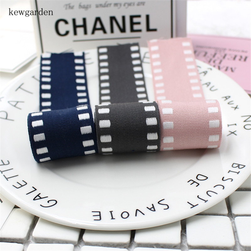 Kewgarden 10mm 16mm 25mm 1 quot 38mm 1 5 quot Handmade Tape Grosgrain Ribbon DIY Bow Brooch Satin Ribbons Accessories Webbing 10 Yards in Ribbons from Home amp Garden
