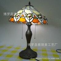 Тиффани небольшая настольная лампа страна подсолнечника пятнистости Стекло ночники E27 110 240 В